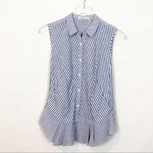 Heartloom Striped Linen Cotton Lightweight Top S